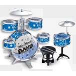 Play On 7 Piece Plastic Drum Set Blue or Red