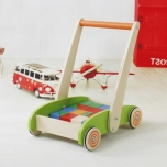 Car with wooden blocks