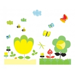 Wall stickers square - Yellow flowers