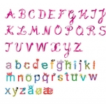 Wall stickers M size- Girls alphabet