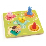 Wooden puzzle - Duck & friends