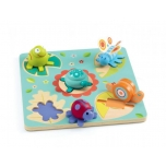 Wooden puzzle - Turtle & friends