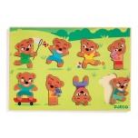 Wooden puzzle - Teddymatch