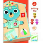 Wooden Puzzle - Dressup - mix