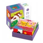 Puidust kuubikud Muu ja sõbrad / Wooden puzzle - Coloured farm