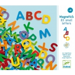 Wooden magnetics - 83 small letters