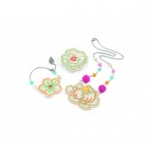 Role Play - Charms - Hairbrushes - Embroidered jewels flowers