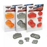 Set of 5 silicon cake moulds 24gr. DISNEY CARS
