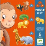 Gigantpusled / Puzzle - Marmoset & friends - 4, 6, 9pcs