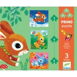 Progressive puzzle - Rabbits - 3. 4. 5 pcs