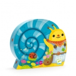 Silhouette puzzles - Snail goes plant picking -24p