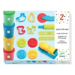 3-6 Colours - Introduction to dough 4 tubes / 21 tools