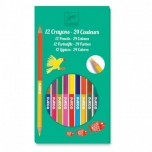 The colours - 12 double ended pencils - 24 colours