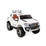 Children ride on car FORD RANGER with rubber wheels (White)