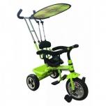 Kolmerattaline jalgratas lastele juhtsangaga Roheline