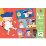 Educational games - Puzzle duo/trio - Emotions