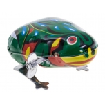 Wind Up metal jumping frog