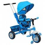 Kolmerattaline jalgratas lastele juhtsangaga Sinine Explorer 360 pööratav iste Baby Cruiser VIP