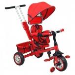 Kolmerattaline jalgratas lastele juhtsangaga Punane Explorer 360 pööratav iste Baby Cruiser VIP