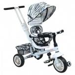 Kolmerattaline jalgratas lastele juhtsangaga Valge Explorer 360 pööratav iste Baby Cruiser VIP