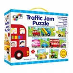 Развивающие крупные пазлы для малышей со звуками транспорта Galt Traffic Jam, 2+