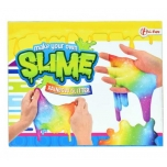 Lima valmistamine Rainbow Glitter Slime