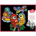 Бархатные раскраски-Птички