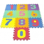 Foam puzzle mat with numbers,10pcs.