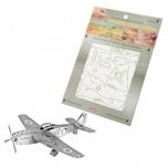 """Металлический пазл 3D """"P-51 Mustang"""""""