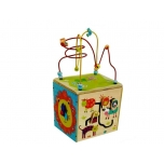 Activity wooden cube