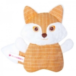Microwable Hot&Cold Plush Linen Fox Toy,Cherry