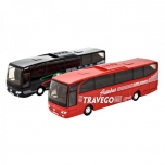 Metal buss pull back MB TRAVEGO 1:60 - Welly (musta värvi)