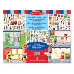 M&D Reusable sticker pad -My town