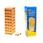 Wooden blocks tower stacking game