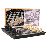 Travel game 2:1 Chess and Checkers Set