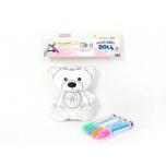 """Värvitav ja pestav pehme mänguasi""""Karu"""""""