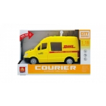 DHL car with light and sounds, 27 cm