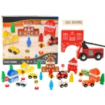 Wooden fire station, 47 pcs
