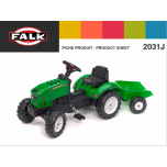 FALK pealeistutav traktor 2031J (Ploughman)