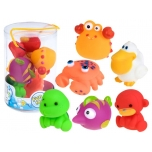 Mini Rubber Baby Bath Toy, 6 pcs.