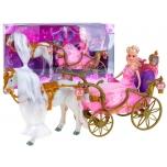 Кукла с каретой и лошадью.Игровой набор на батарейках.