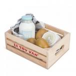 Toiduained kastis - munad ja piimatooted Puidust