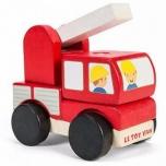 Игровой набор Пожарная машина из деревянных кубиков