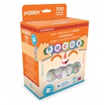 POCOS Starter Kit, 100 pcs, Pocos with letters and a bag for storage
