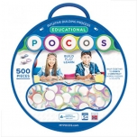 POCOS Educational Kit, 500 pcs, Pocos with letters and a bag for storage