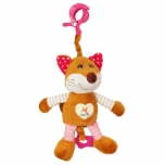 "Musical pull string toy""Pink Fox"""