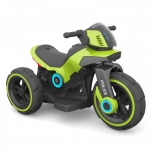 3-Rattaline elektrimootorratas lastele.Roheline.