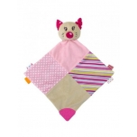 Plush toy with teethers - Pink Cat