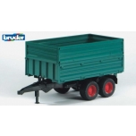 Bruder 02010 Tandem Axle Tipping Trailer with Removable Top