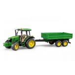 Bruder 02108 Tractor John Deere 5115m With Tipping Trailer